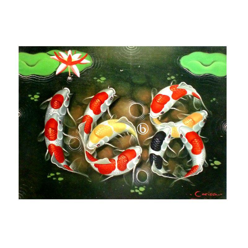 Lukisanku Koi Ilufa BL-R020 Lukisan Modern