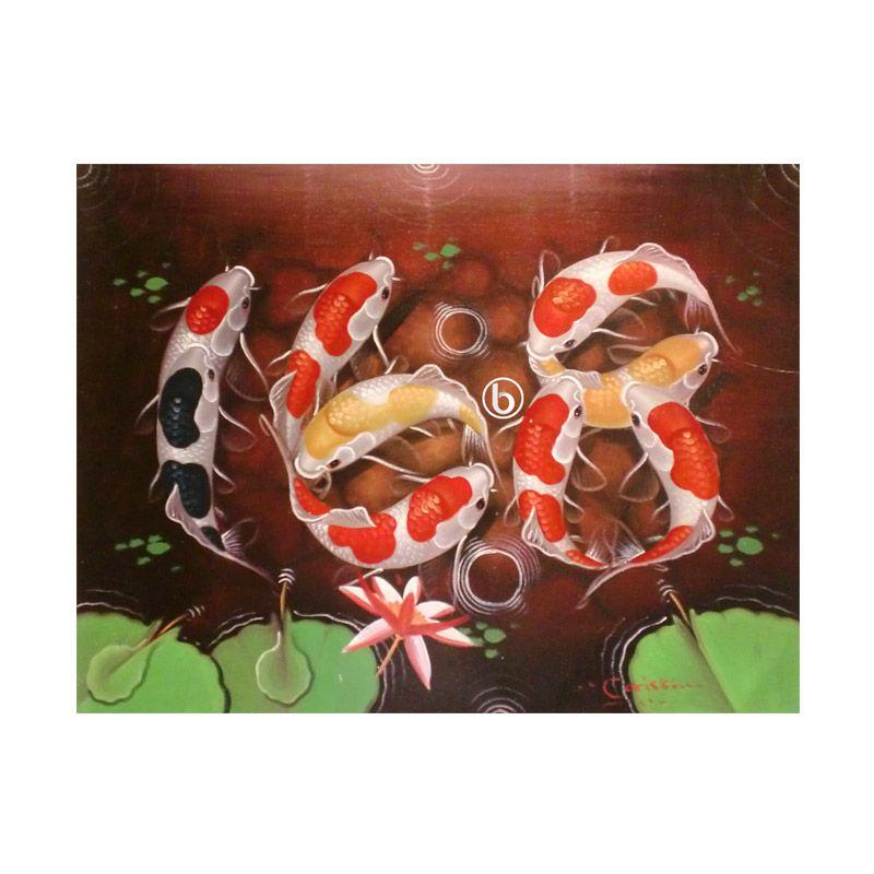 Lukisanku Koi Ilufa BL-R024 Lukisan Modern