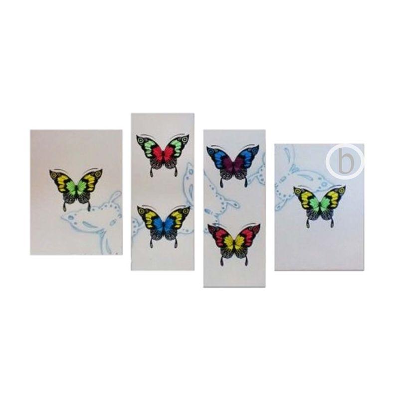 Lukisanku M-Butterfly Lukisan Minimalis