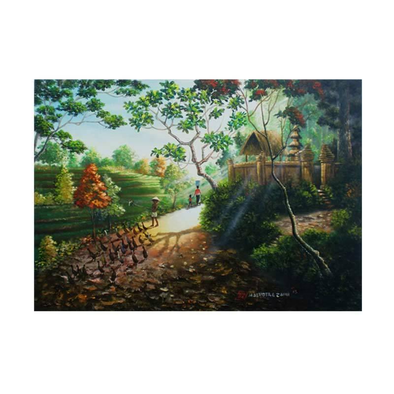 Lukisanku MHT-Morning Light Lukisan Modern