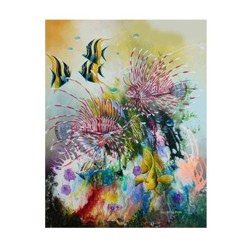 Lukisanku MHT-Ocean Currents Lukisan Modern