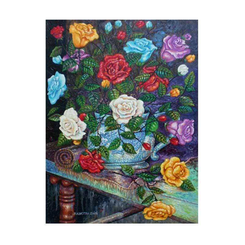 Lukisanku MHT-Rose Lukisan modern
