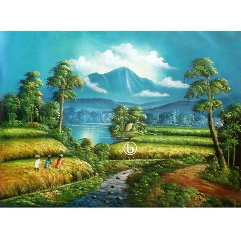 Lukisanku Panen BL-R0027 Lukisan Pemandangan