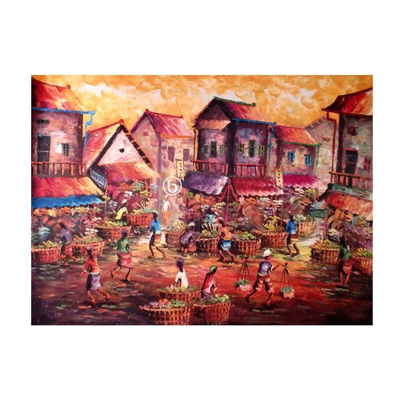 Lukisanku Pasar BL-R007 Lukisan Modern