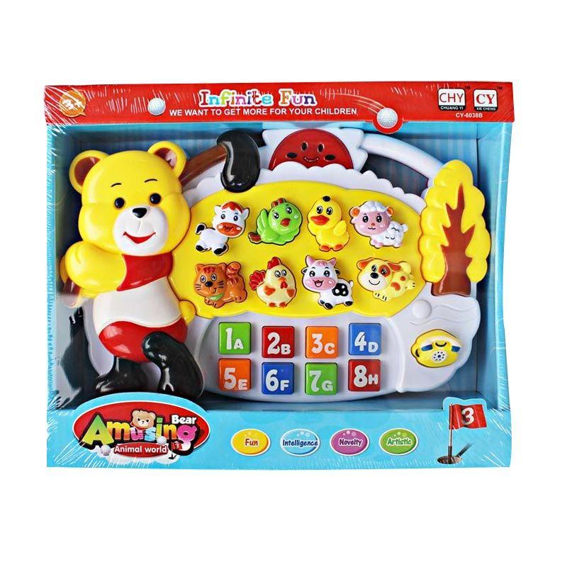 Bear Amusing Piano 2 Yellow Mainan Anak