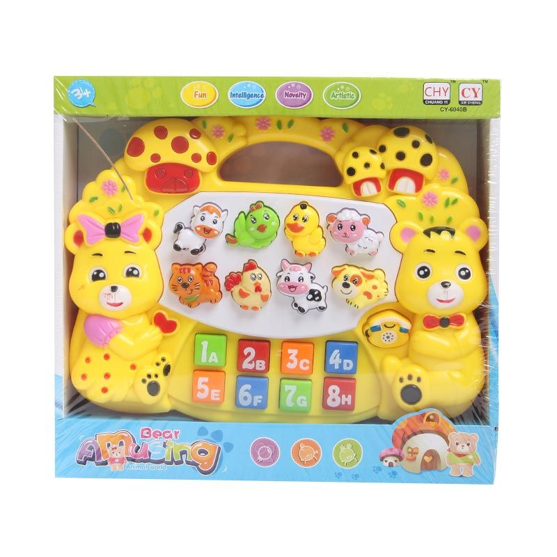 Bear Amusing Piano Yellow Mainan Anak