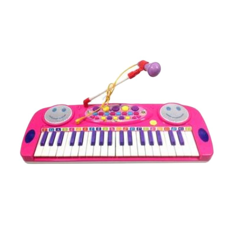 Lezile Electronic Organ Pink Mainan Anak