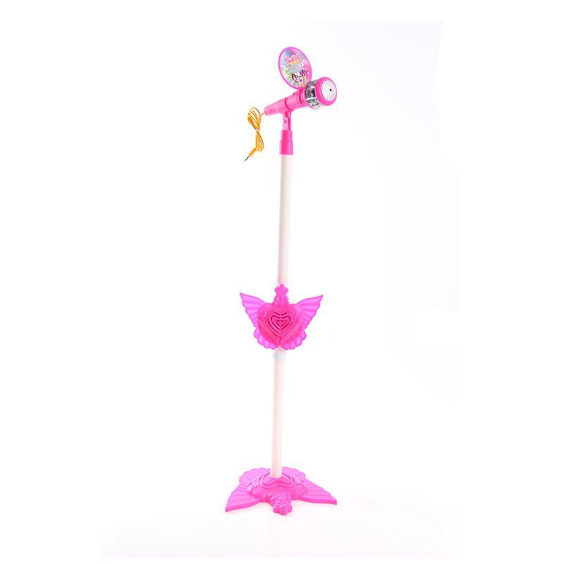 Lumi Super Voice Microphone New Design Pink Mainan Anak