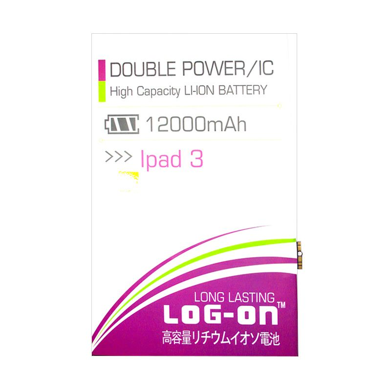 Log On Double Power Battery for Apple Ipad 3 [12000 mAh]