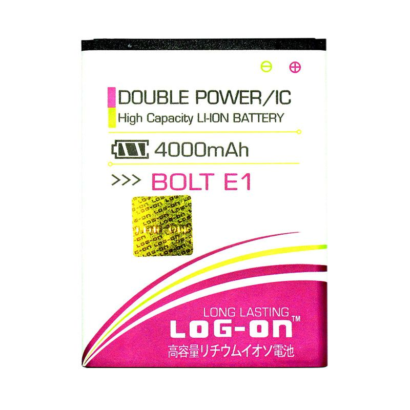 Log On Double Power Baterai for BOLT Power Phone E1 4G LTE [4000 mAh]