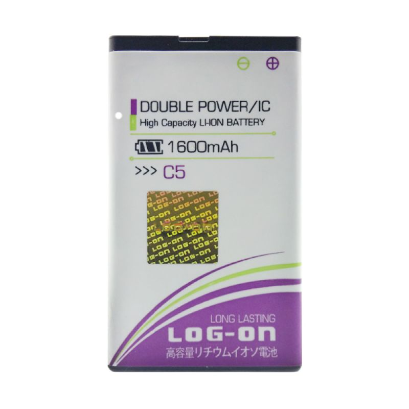 Log On Double Power Battery for Evercoss C5 [1600 mAh]