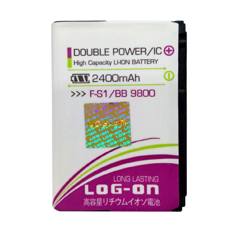 Log On Double Power Battery for F-S1 or Blackberry 9800 [2400 mAh]