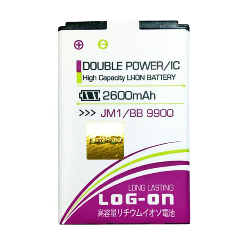 Log On Double Power Battery for JM1 or Blackberry Dakota 9900 [2600 mAh]