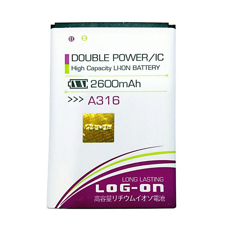 Log On Double Power Battery for Lenovo A316 or A369 [2600 mAh]