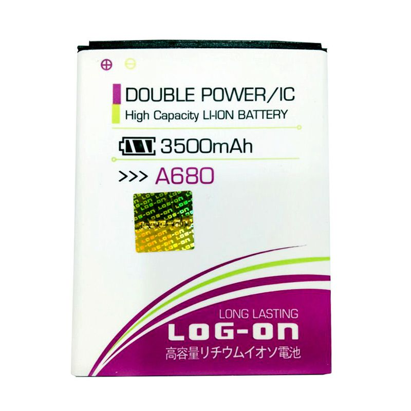 Log On Double Power Battery for Lenovo A680 [3500 mAh]