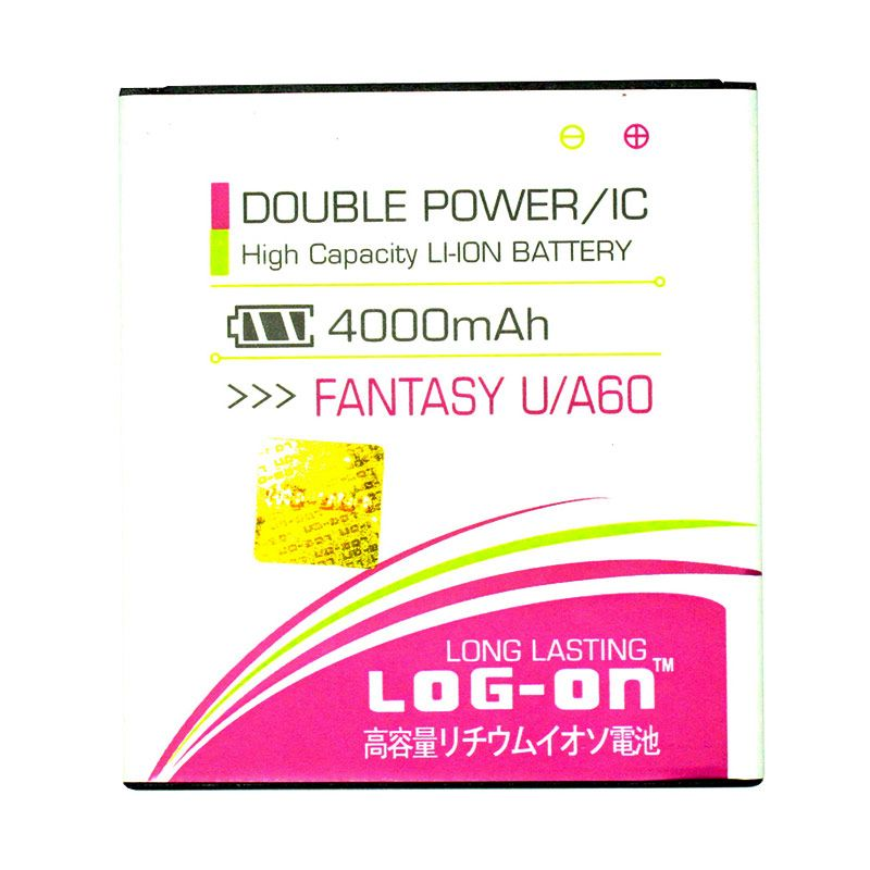 Log On Double Power Battery for MITO Fantasy U A60 [4000 mAh]