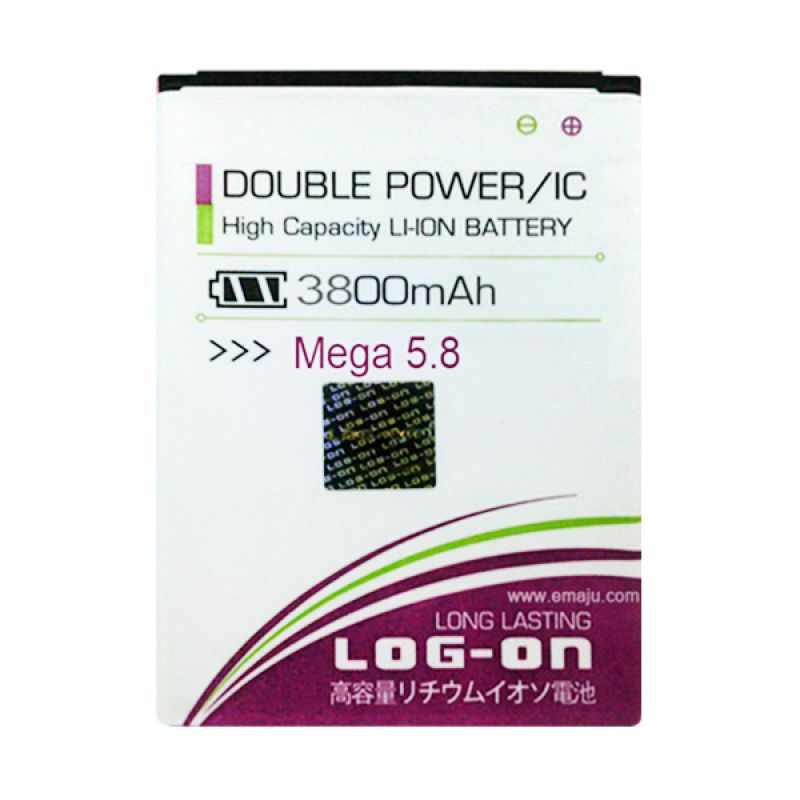 Log On Double Power Battery for Samsung Galaxy Mega 5.8 or I9152 [3800 mAh]