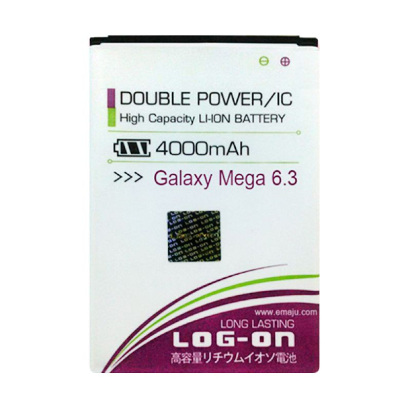 Log On Double Power Battery for Samsung Galaxy Mega 6.3 or I9200 [4000 mAh]