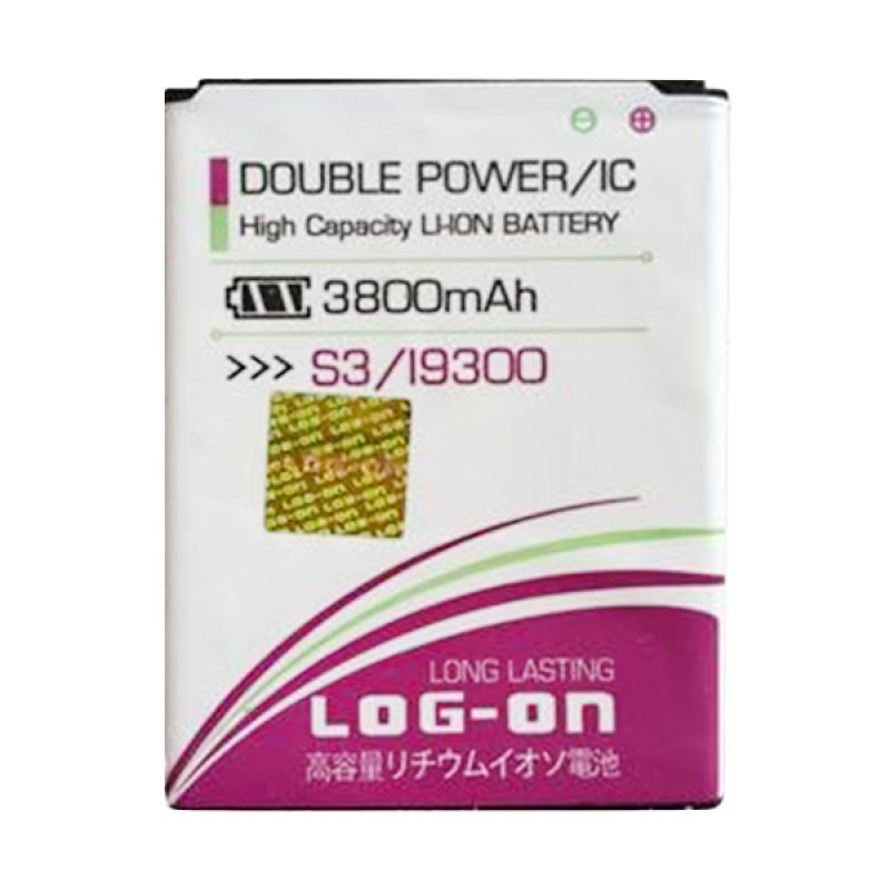 Log On Double Power Battery for Samsung Galaxy S3 or I9300 [3800 mAh]