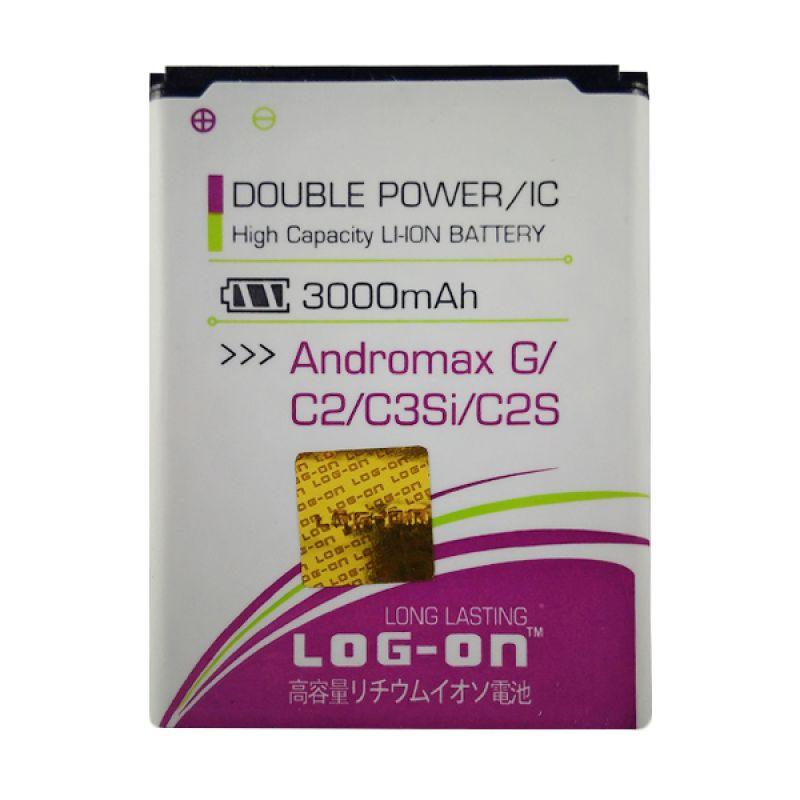 Log On Double Power Battery for Smartfren Andromax G/C2/C2S [3000 mAh]