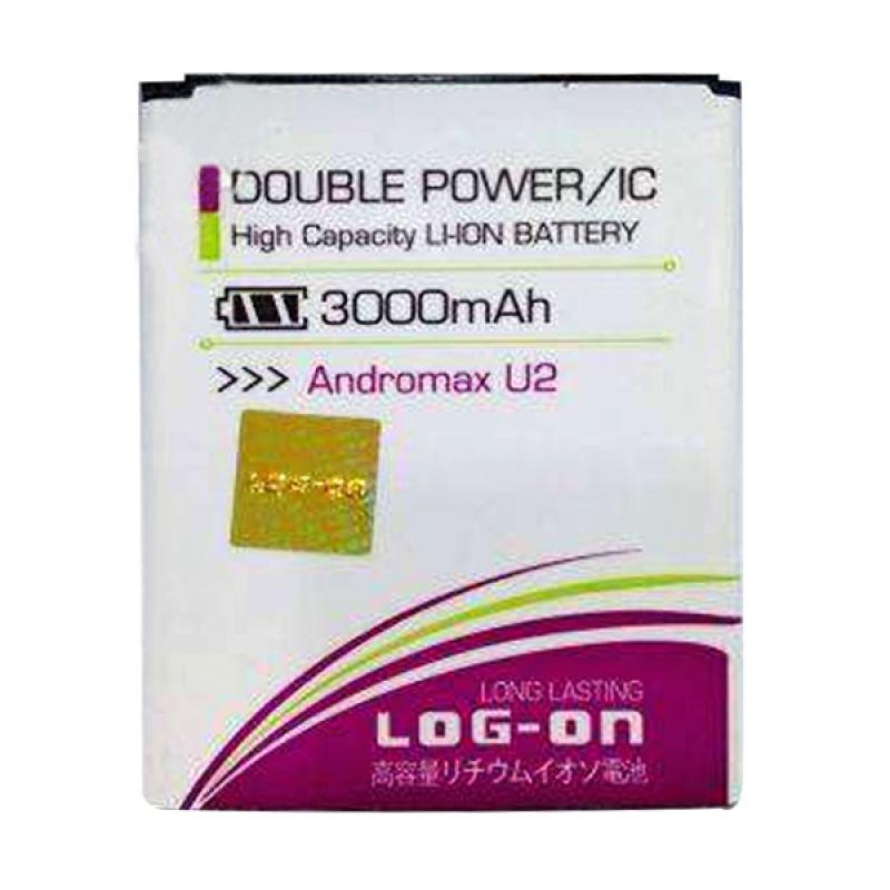 Log On Double Power Battery for Smartfren Andromax U2 [3000 mAh]