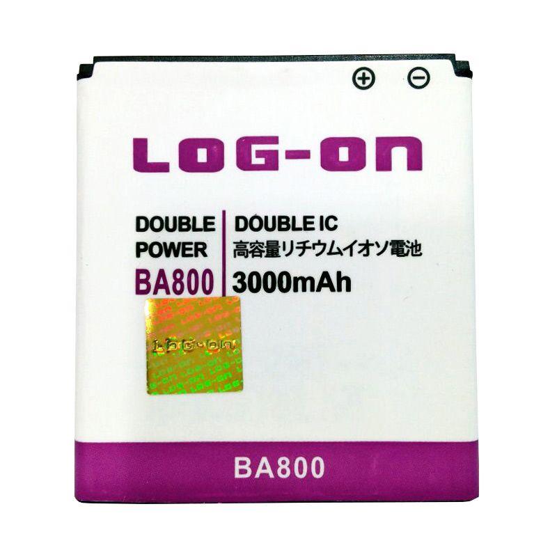 harga Log On Double Power Battery for Sony BA 800 or Sony Xperia S/LT26i/Nozomi [3000 mAh] Blibli.com