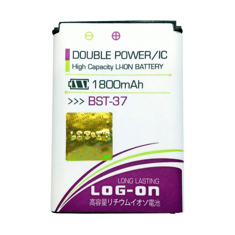 Log On Double Power Battery for Sony BST-37 or J220i [1800 mAh]