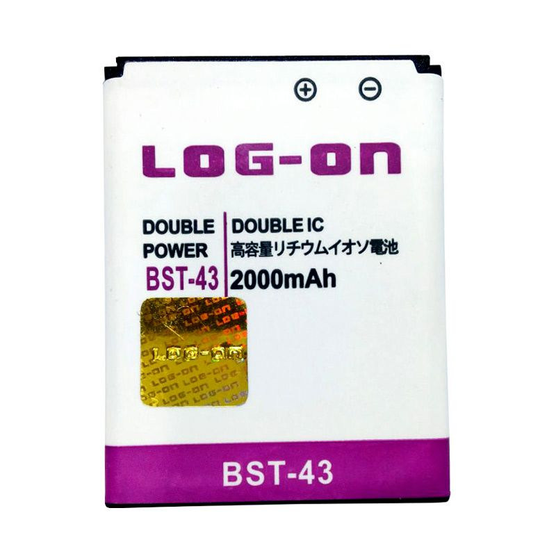 Log On Double Power Battery for Sony BST-43 or Sony Ericsson Cedar/Elm/Hazel [2000 mAh]