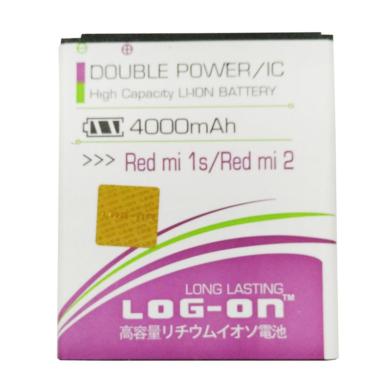 Log On Double Power Battery for Xiaomi Redmi 1S or Redmi 2 [4000 mAh]