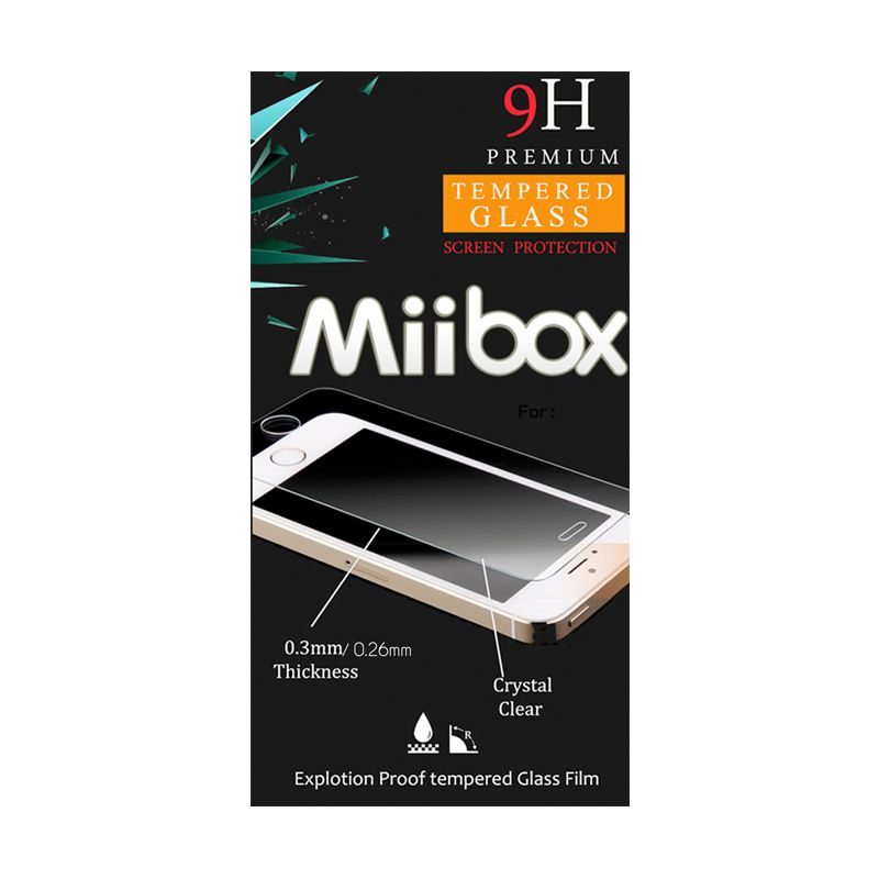 Miibox Tempered Glass Screen Protector for Universal Smartphone [4.5 Inch]