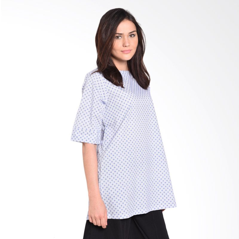 Luna Maya Exclusive BL 0005 Polka Light Blue Dress