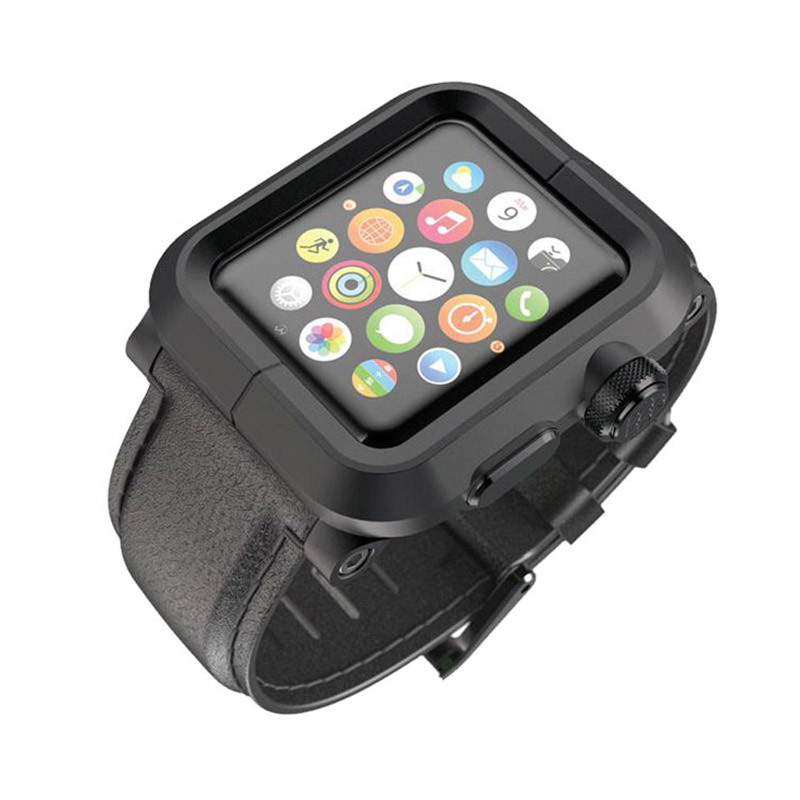 Lunatik Epik Leather Band for Apple Watch 42mm - Black