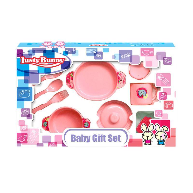 LustyBunny Feeding Set LB 1867B Pink Alat Makan Bayi