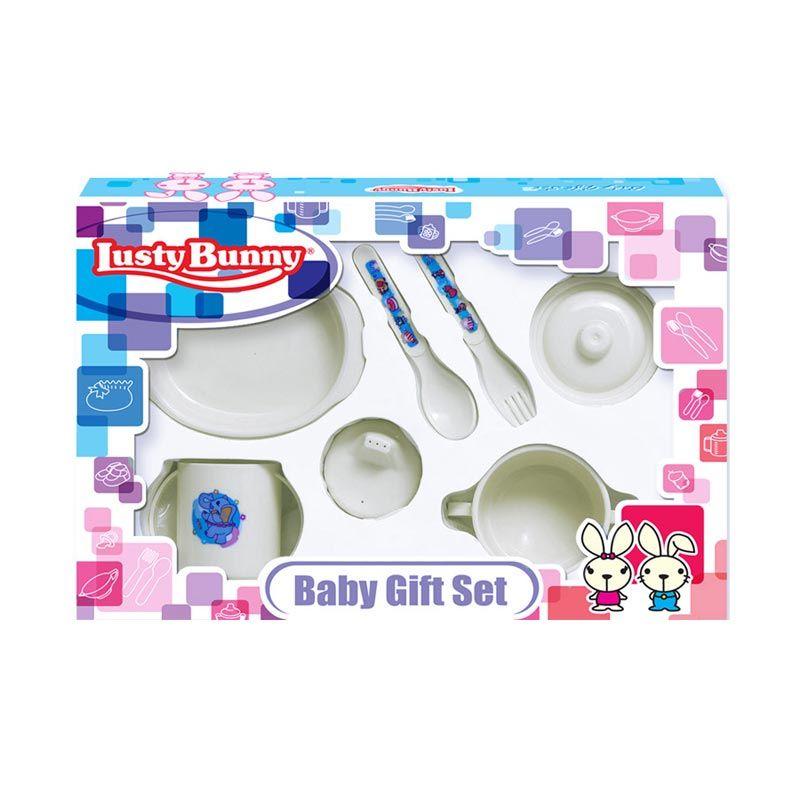LustyBunny Feeding Set LB 1837C Putih Alat Makan Bayi