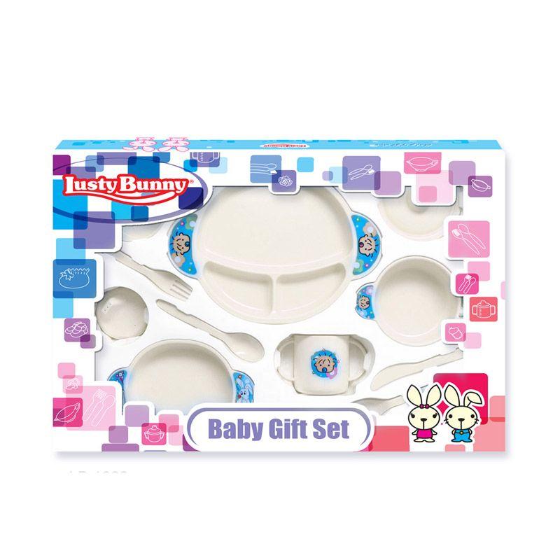 LustyBunny Feeding Set LB 1882C Putih Alat Makan Bayi