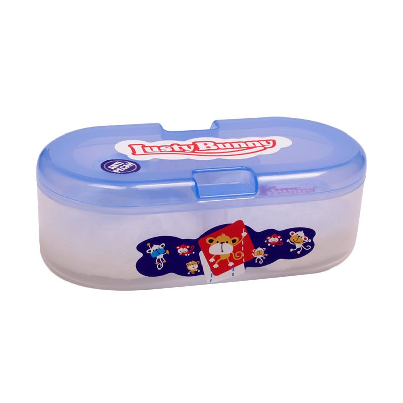 Jual Lusty Bunny Oval Case TB 1603A Biru Baby Powder Tempat Bedak Bayi Online - Harga & Kualitas Terjamin | Blibli.com