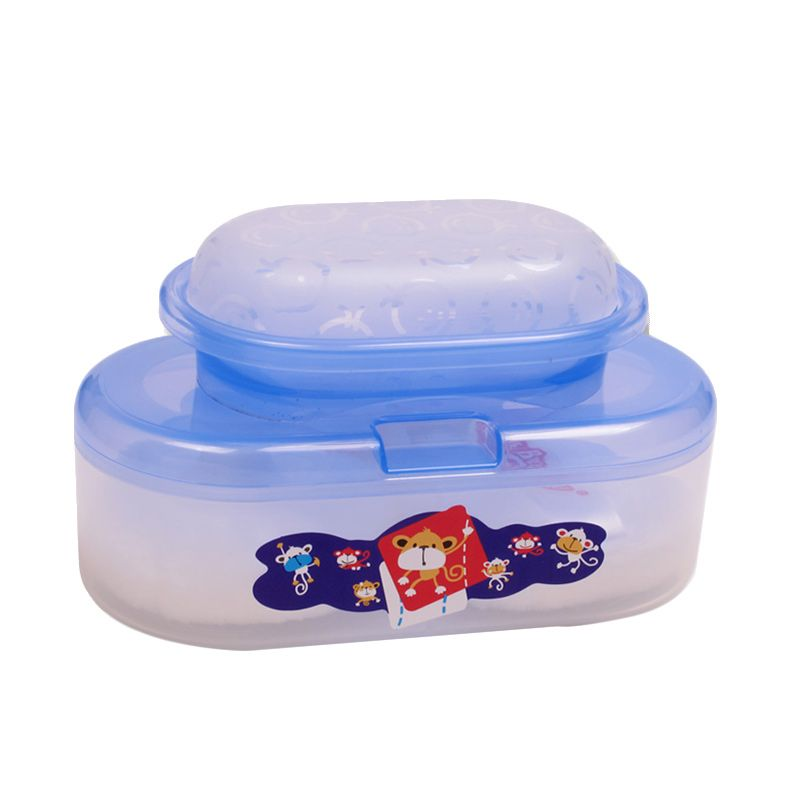 LustyBunny Oval Case With Soap Case TB 1556A Biru Baby Powder