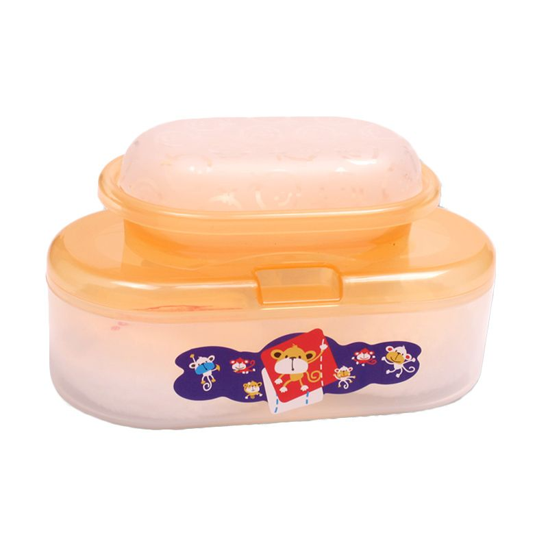 LustyBunny Oval Case With Soap Case TB 1556C Orange Baby Powder