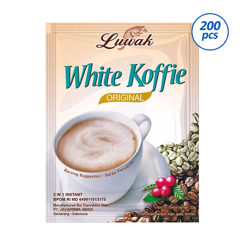 Luwak White Coffee Kopi Instan 20 g 200 Sachet Karton