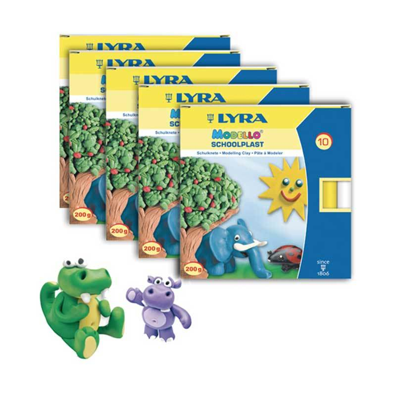 Lyra Modelling Clay 10 Colors Set of 5