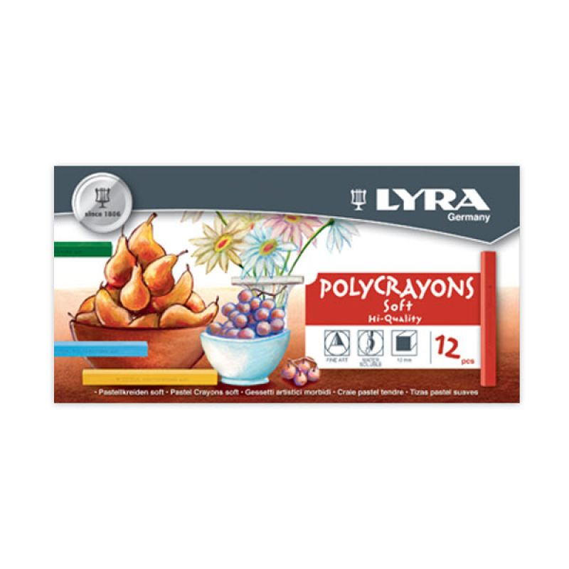 Lyra Polycrayon Soft 12 Color