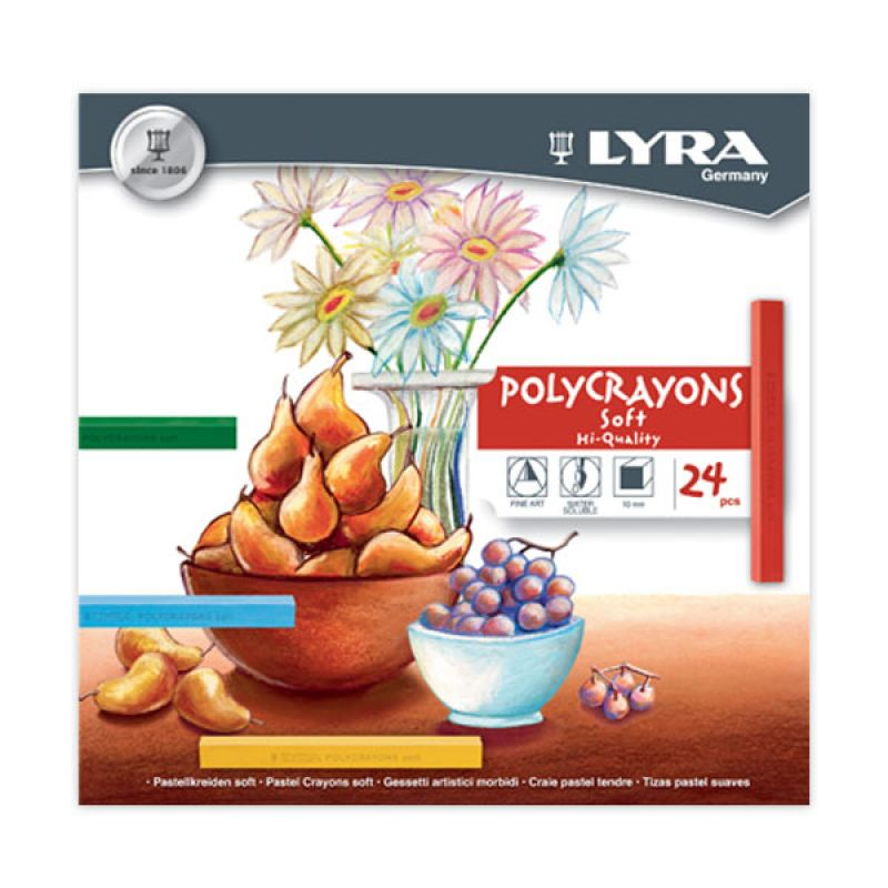 Lyra Polycrayon Soft 24 Color
