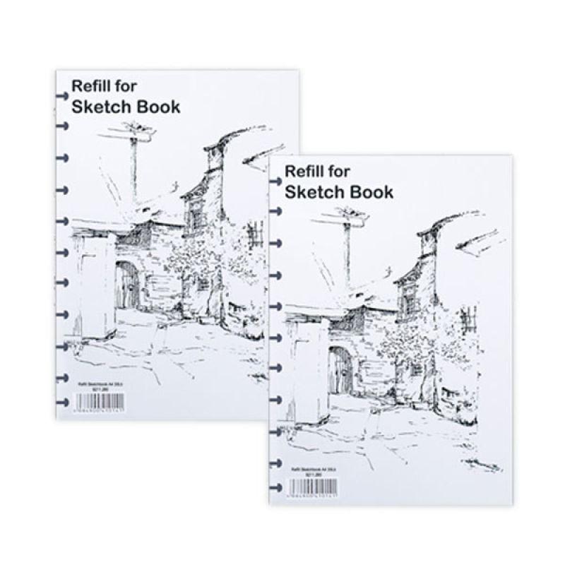 Lyra Isi Ulang Buku Sketsa A4