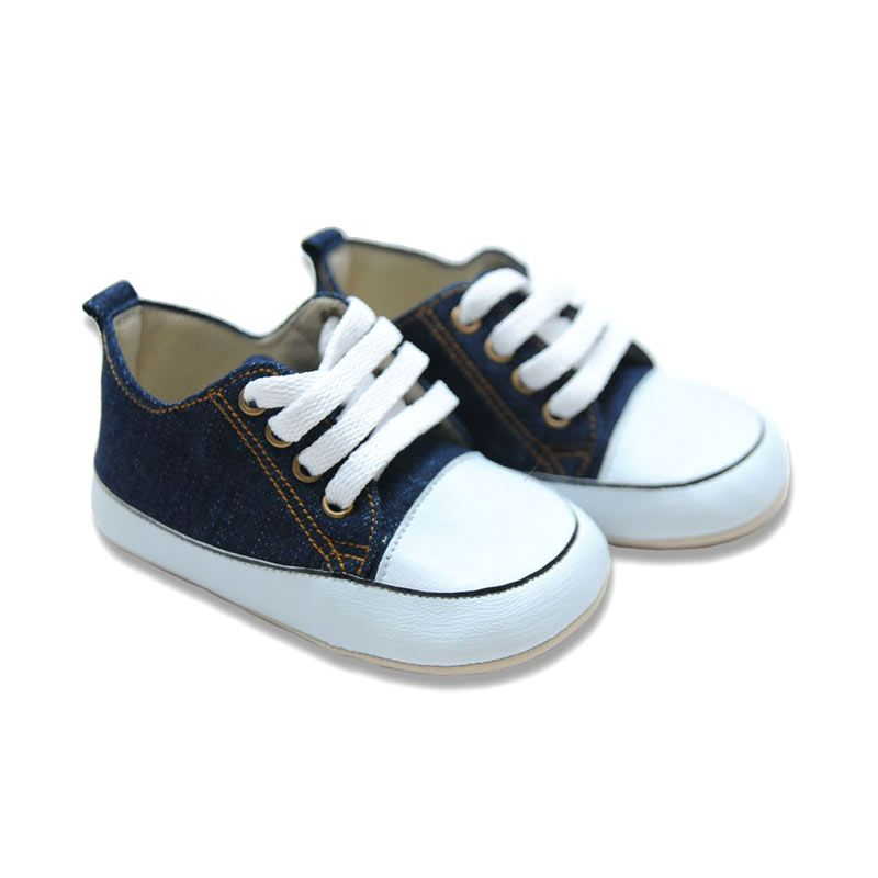 M and M Baby Shoes Denim Pre Walker Sepatu Bayi