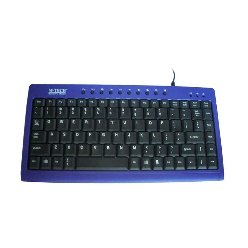 M-Tech MTK-01 Black Blue Keyboard USB Mini Multimedia