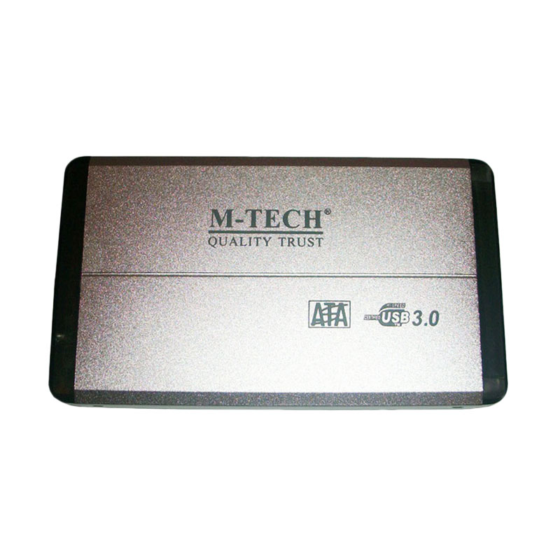 M-Tech Silver Casing Hardisk External [2.5 Sata - Usb 3.0]