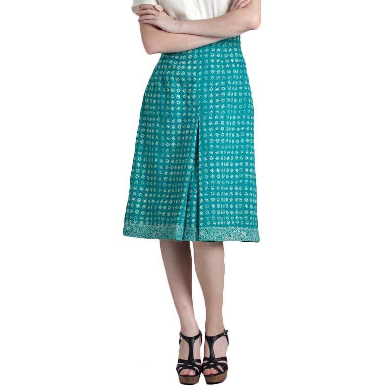 Madha Batik Cirebon Truntum Skirt Green