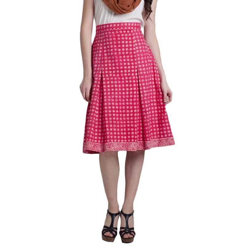 Madha Batik Cirebon Truntum Skirt Pink