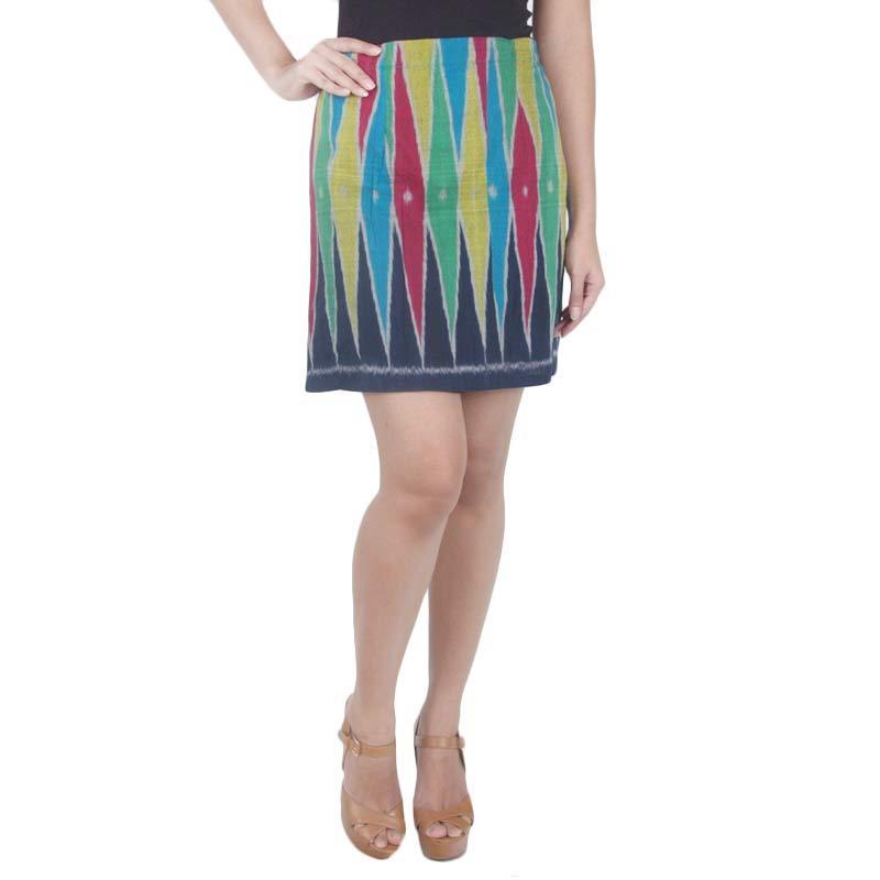 Madha Tenun Rangrang Rainbow Wrap Skirt