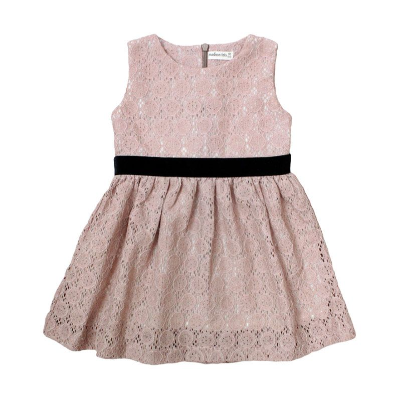 Madison Tots Bubble Rose Dress Anak